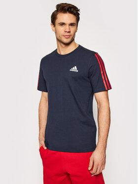 adidas adidas T-Shirt Dk T GK9426 Tmavomodrá Regular Fit