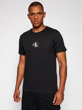 Calvin Klein Jeans Calvin Klein Jeans Marškinėliai J30J314267 Juoda Regular Fit