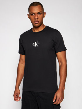 Calvin Klein Jeans Calvin Klein Jeans Tričko J30J314267 Čierna Regular Fit