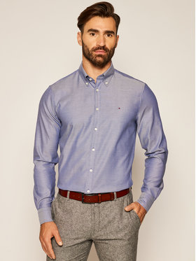 Tommy Hilfiger Tailored Tommy Hilfiger Tailored Cămașă Oxford TT0TT07602 Bleumarin Slim Fit