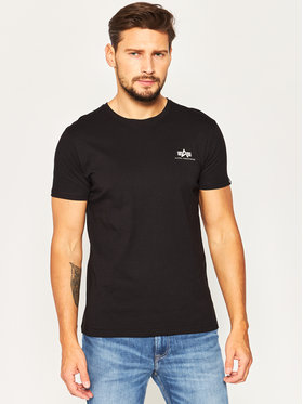 Alpha Industries Alpha Industries T-Shirt Basic 188505 Czarny Regular Fit