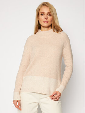 Calvin Klein Calvin Klein Golf LS Lurex Mock Neck K20K202252 Beżowy Regular Fit