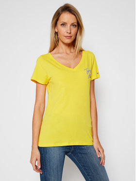 Tommy Jeans Tommy Jeans T-shirt Tjw Essential DW0DW08933 Giallo Regular Fit
