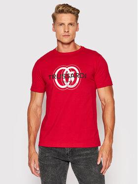 Trussardi Trussardi T-Shirt Logo 52T00514 Czerwony Regular Fit