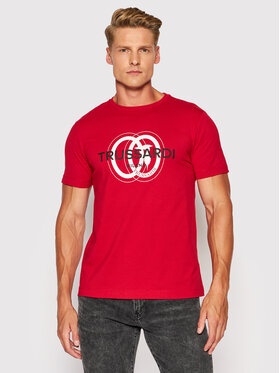 Trussardi Trussardi Tričko Logo 52T00514 Červená Regular Fit