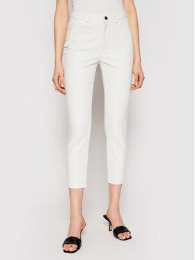 Pinko Pinko Spodnie skórzane Susan PE 21 BLK01 1G15ZV 7105 Biały Regular Fit
