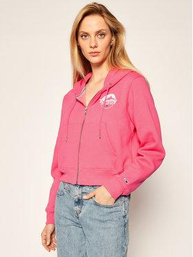 Tommy Jeans Tommy Jeans Sweatshirt Thru Logo DW0DW08976 Rosa Cropped Fit