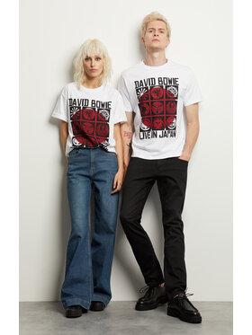 Vistula Vistula T-Shirt Unisex David Bowie 10 XA1344 Biały Regular Fit