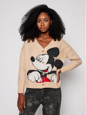 Desigual Desigual Пуловер DISNEY Mickey 20WWJFAN Бежов Regular Fit
