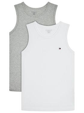 Tommy Hilfiger Tommy Hilfiger Комплект 2 блузи без ръкави 2P UB0UB00375 Бял Regular Fit