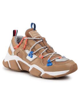 TOMMY HILFIGER TOMMY HILFIGER Laisvalaikio batai City Voyager Chunky Sneaker FW0FW04610 Ruda