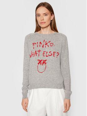 Pinko Pinko Sweater Scuderia 1G16WZ Y7GZ Szürke Regular Fit