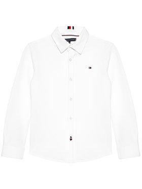 Tommy Hilfiger Tommy Hilfiger Koszula Stretch Pique KB0KB06332 D Biały Regular Fit