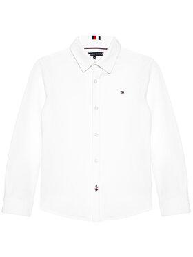 Tommy Hilfiger Tommy Hilfiger Πουκάμισο Stretch Pique KB0KB06332 D Λευκό Regular Fit