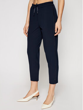 Marella Marella Kalhoty z materiálu Blanc 31310215 Tmavomodrá Regular Fit