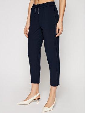 Marella Marella Spodnie materiałowe Blanc 31310215 Granatowy Regular Fit