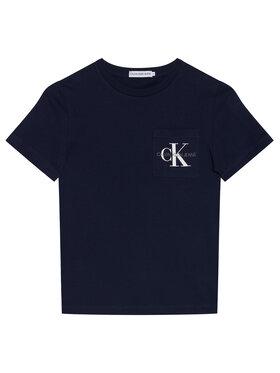 Calvin Klein Jeans Calvin Klein Jeans T-Shirt Monogram Pocket IB0IB00457 Granatowy Regular Fit