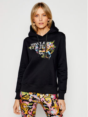 Versace Jeans Couture Versace Jeans Couture Majica dugih rukava B6HWA7KC Crna Regular Fit