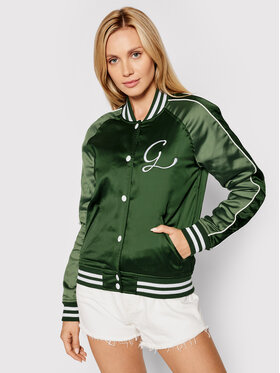 Guess Guess Яке бомбър Tiffany W1YL83 WD1R2 Зелен Slim Fit