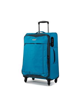 Wittchen Wittchen Kis szövetborítású bőrönd 56-3S-462-95 Kék