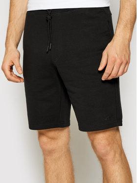 4F 4F Pantaloni scurți sport NOSH4-SKMD001 Negru Regular Fit