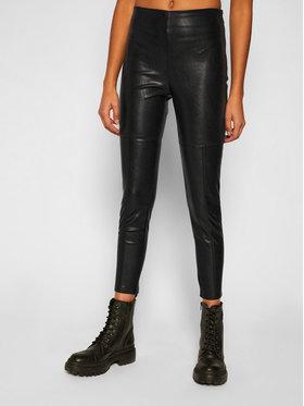 Pinko Pinko Nohavice z imitácie kože Anselmo Al 20-21 BLK01 1G1520 Y6BE Čierna Slim Fit