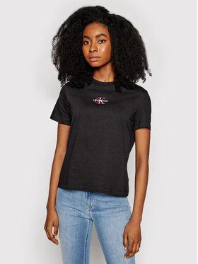 Calvin Klein Jeans Calvin Klein Jeans Marškinėliai J20J215497 Juoda Regular Fit