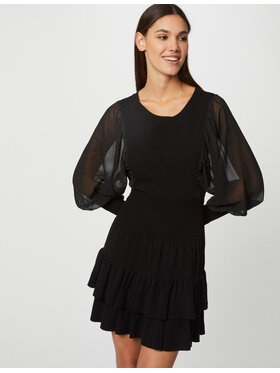 Morgan Morgan Плетена рокля 212-RMAMA Черен Slim Fit