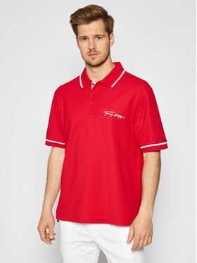 Tommy Hilfiger Tommy Hilfiger Polo Signature MW0MW17806 Crvena Casual Fit