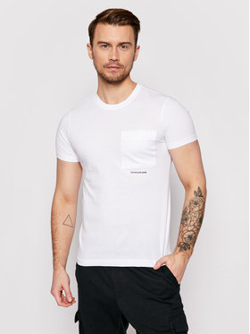 Calvin Klein Jeans Calvin Klein Jeans Póló J30J317275 Fehér Regular Fit