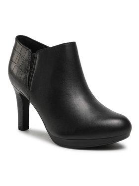 Clarks Clarks Členková obuv Adriel Lily 261530504 Čierna
