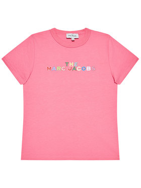 Little Marc Jacobs Little Marc Jacobs Marškinėliai W15543 S Rožinė Regular Fit