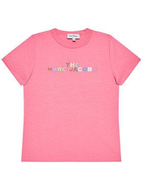 Little Marc Jacobs Little Marc Jacobs T-Shirt W15543 S Różowy Regular Fit