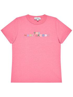 Little Marc Jacobs Little Marc Jacobs T-shirt W15543 S Ružičasta Regular Fit