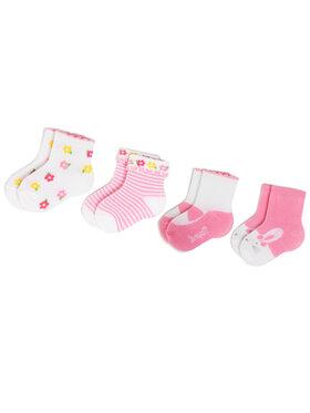 Mayoral Mayoral Set di 4 paia di calzini lunghi da bambini 9245 Rosa
