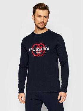 Trussardi Trussardi Majica dugih rukava Logo 52T00540 Tamnoplava Regular Fit