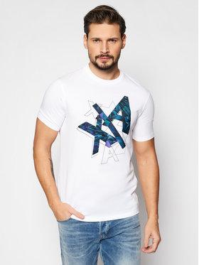 Armani Exchange Armani Exchange Marškinėliai 3KZTFX ZJH4Z 1100 Balta Regular Fit