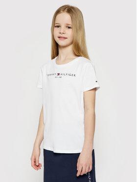 Tommy Hilfiger Tommy Hilfiger T-Shirt Essential KG0KG05242 D Biały Regular Fit