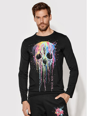 Rage Age Rage Age Тениска с дълъг ръкав Splashskull 1 Черен Regular Fit