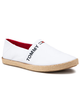 Tommy Jeans Tommy Jeans Espadrilky Logo Espadrille EM0EM00676 Biela