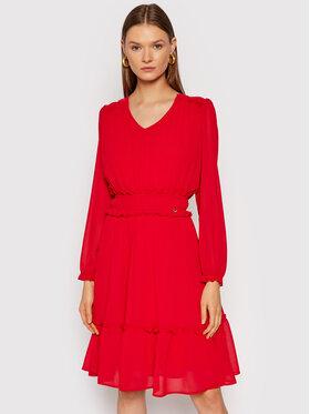 Rinascimento Rinascimento Koktejlové šaty CFC0104675003 Červená Regular Fit