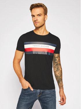 Tommy Hilfiger Tričko Stripe Tee MW0MW15318 Čierna Regular Fit