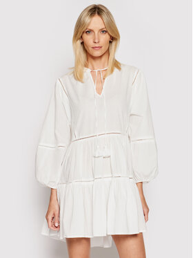 Seafolly Seafolly Kleid für den Alltag Bayside Ladder Trim 54454 Weiß Relaxed Fit