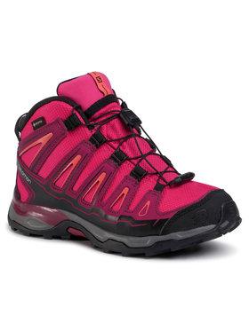 Salomon Salomon Trekingová obuv X-Ultra MId Gtx J GORE-TEX 398651 12 W0 Červená