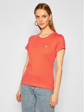 Calvin Klein Jeans Calvin Klein Jeans Póló J20J212883 Rózsaszín Slim Fit
