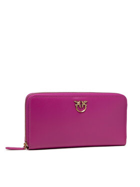 Pinko Pinko Duży Portfel Damski Ryder Wallet Zip Around L Simply AI 21-22 PLTT 1P22GW Y6XT Różowy