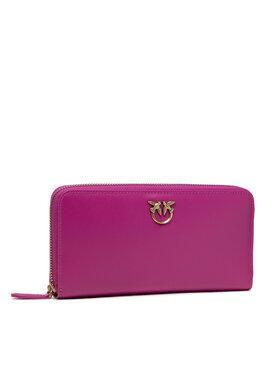 Pinko Pinko Veľká dámska peňaženka Ryder Wallet Zip Around L Simply AI 21-22 PLTT 1P22GW Y6XT Ružová