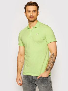 Tommy Jeans Tommy Jeans Тениска с яка и копчета Classics Solid Stretch DM0DM09439 Зелен Slim Fit