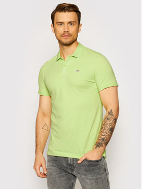 Tommy Jeans Tommy Jeans Tricou polo Classics Solid Stretch DM0DM09439 Verde Slim Fit