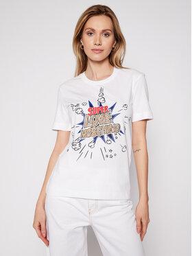 LOVE MOSCHINO LOVE MOSCHINO T-shirt W4H0608M 3876 Blanc Regular Fit